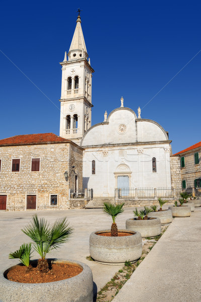 Church of St. Mary, Jelsa, Hvar, Croatia Stock photo © brozova