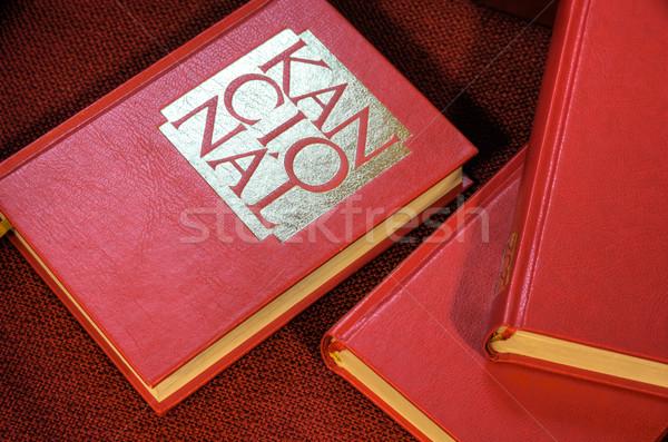 Closed hymnals and prayer books - detail - Czech language Stock photo © brozova
