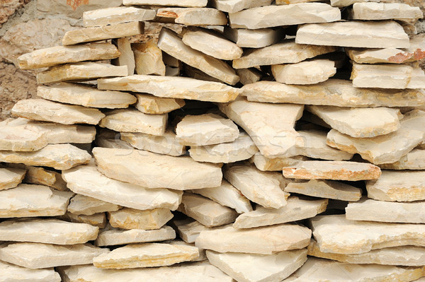 Hoop stenen kalksteen textuur kleur architectuur Stockfoto © brozova