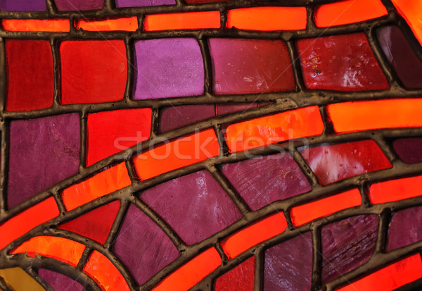 Stained glass window - church Stock photo © brozova