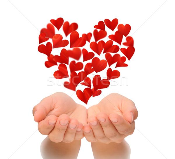 Открытка сердечко на ладони