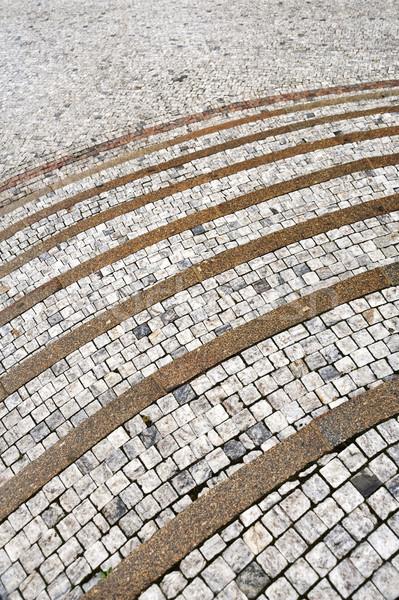 Oude steen stappen weg bouw abstract Stockfoto © brozova