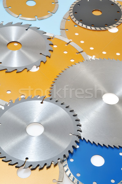 Collection of circular saw blades  Stock photo © brozova