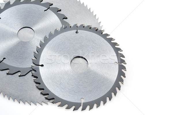 Circular saw blades for wood isolated on white Stock photo © brozova