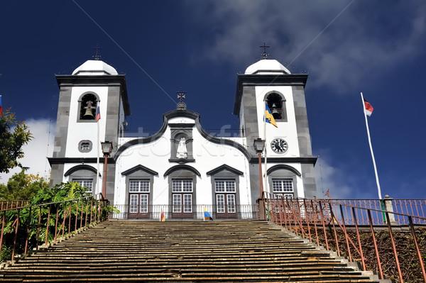 Templom Madeira Portugália égbolt fal nyár Stock fotó © brozova