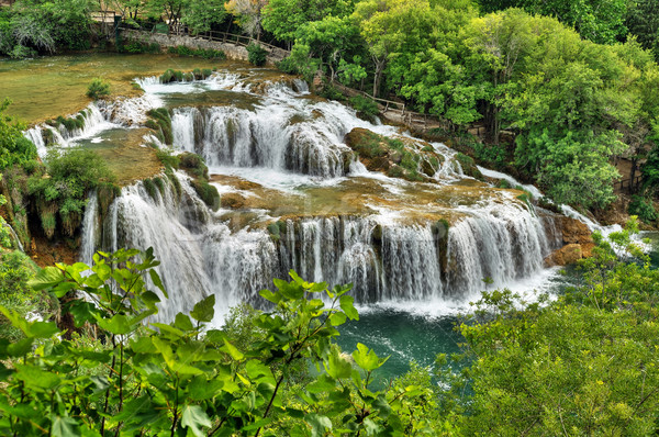 Waterfalls in Krka National Park, Croatia Stock photo © brozova