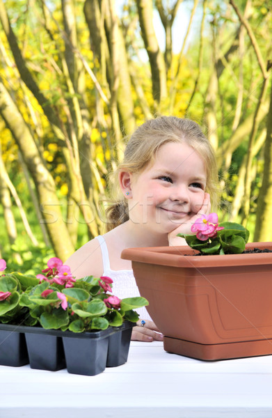 Little girl - gardening Stock photo © brozova