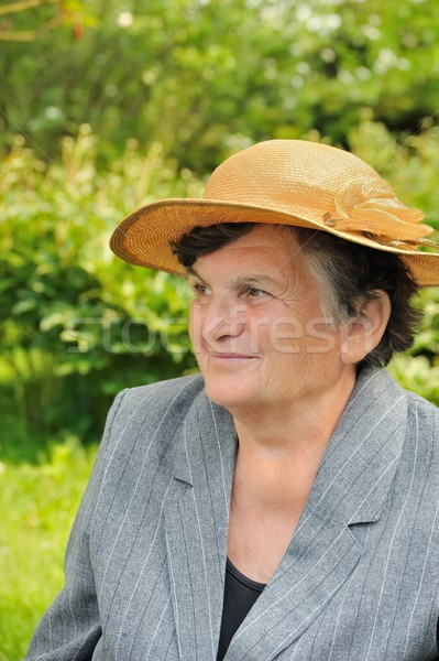 Senior woman - portrait Stock photo © brozova