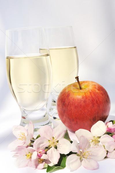 Elma şarabı elma çiçek yaprak meyve ağaçlar Stok fotoğraf © brozova