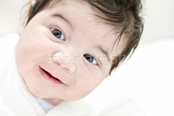 Gezicht gelukkig baby glimlachend geluk kind Stockfoto © brozova