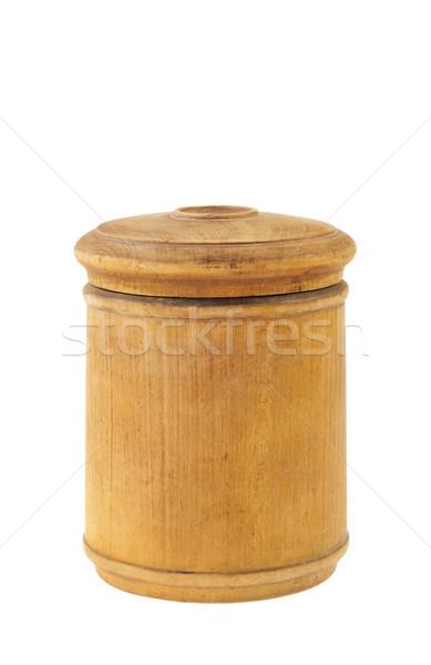 Old antique round food box isolated on white Stock photo © brozova