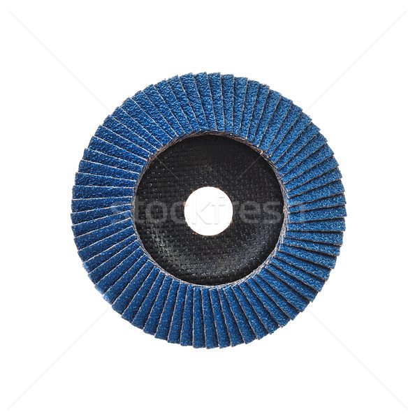 Abrasive disk for grinder isolated on white Stock photo © brozova