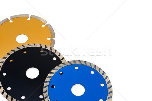 Piastrelle isolato bianco metal Foto d'archivio © brozova