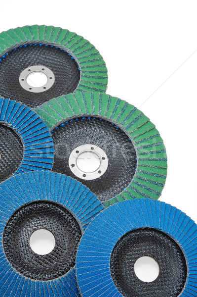 Abrasive disks for grinder isolated on white Stock photo © brozova