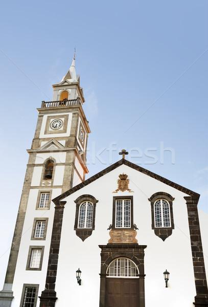 ストックフォト: 教会 · 壁 · ウィンドウ · 芸術 · 青 · 旅行