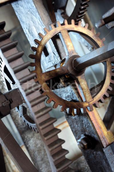 Medieval  astronomical clock in St.Vitus cathedral, Prague, Prague castle - interior - detail Stock photo © brozova