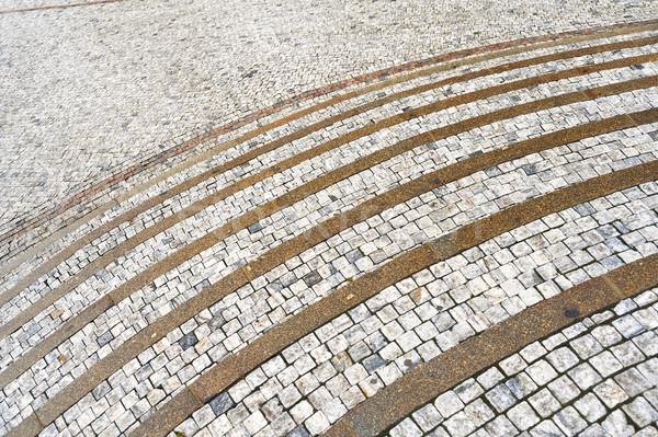 Old curved stone steps  Stock photo © brozova