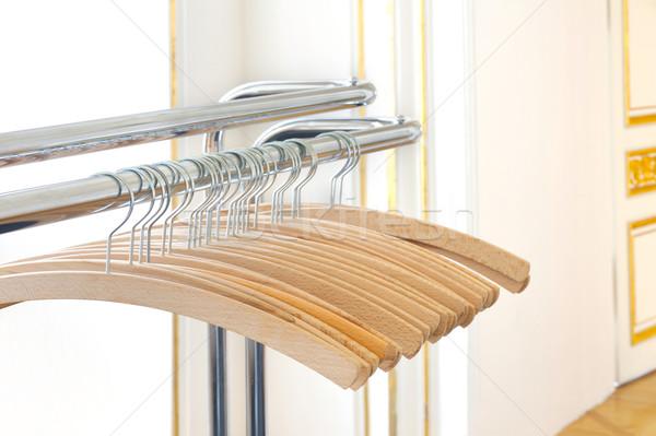 Lege kleding muur mode ontwerp home Stockfoto © brozova