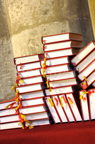 Hymnals and prayer books - stack Stock photo © brozova