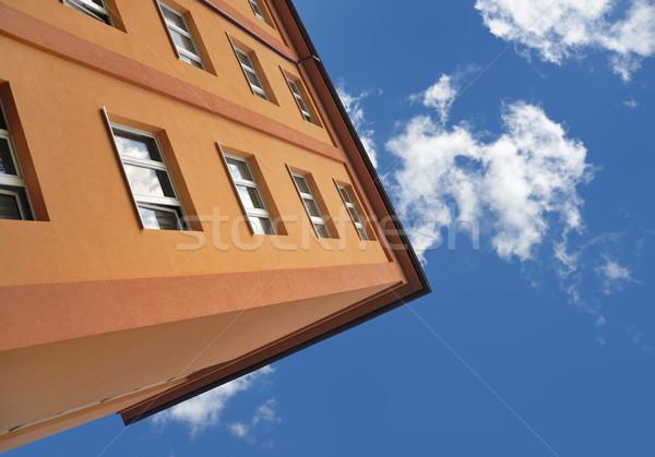 Block of flats - apartment building Stock photo © brozova