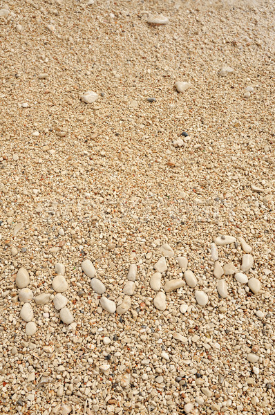 HVAR word made of pebbles, authentic picture of Hvar Stock photo © brozova