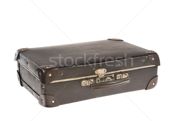 Old retro-styled travel suitcase isolated on white background Stock photo © brozova