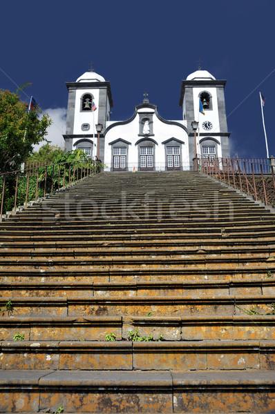 ストックフォト: 教会 · マデイラ · ポルトガル · 空 · 壁 · 夏