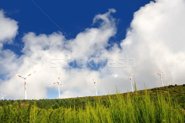 Természet kék ipar ipari energia felhő Stock fotó © brozova