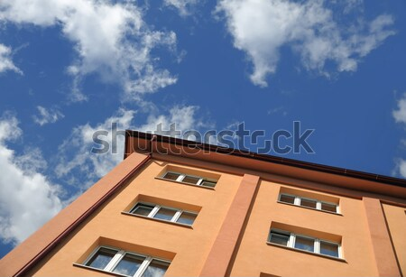 Stock photo: Block of flats - apartment building