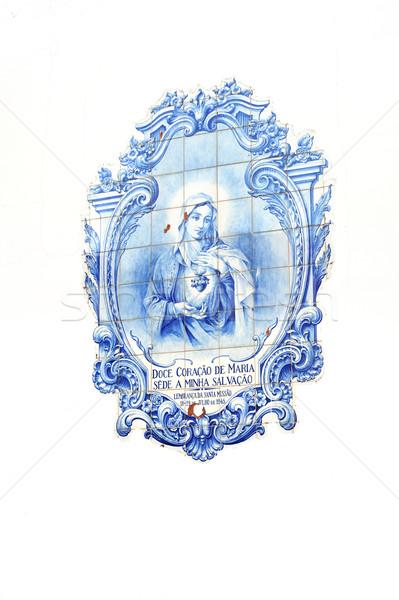 Photo stock: Tuiles · église · madère · Portugal · maison · art