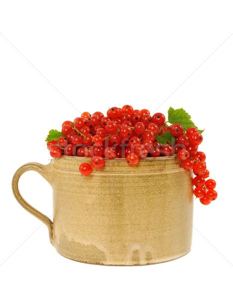 Ceramica Cup completo fresche rosso ribes Foto d'archivio © brozova