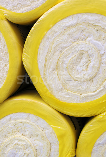Thermal insulation material - fiber glass Stock photo © brozova