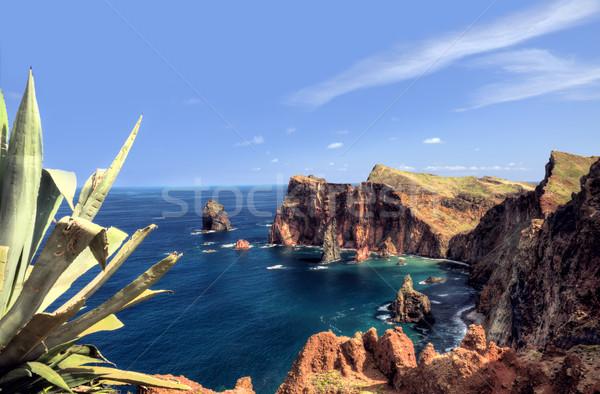 Coastă madeira insulă cer apă mare Imagine de stoc © brozova