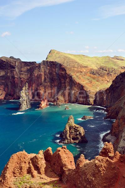 Part Madeira sziget égbolt természet tenger Stock fotó © brozova