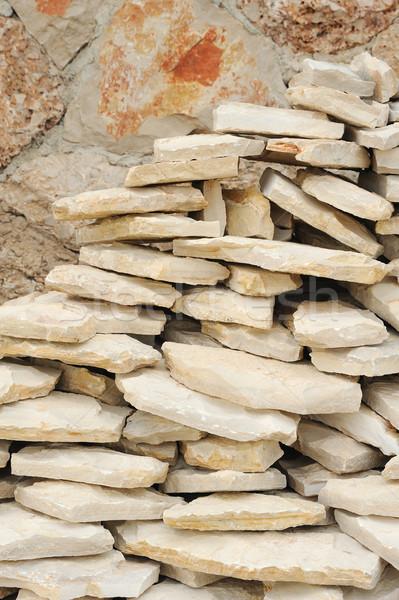 Tas pierres calcaire texture couleur architecture Photo stock © brozova