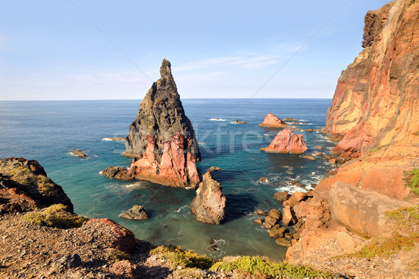 Kust madeira eiland hemel zee oceaan Stockfoto © brozova