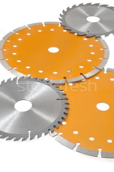 Circular saw blades isolated on white Stock photo © brozova