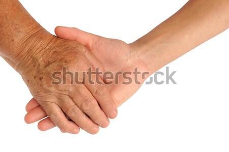 Handen jonge senior vrouwen helpende hand Stockfoto © brozova