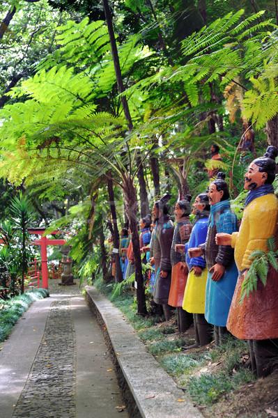 Palazzo tropicali giardino albero foresta estate Foto d'archivio © brozova