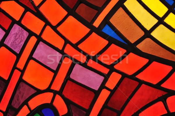 Stained glass window - church Stock photo © brozova