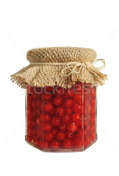 Canned red currant berries in jar Stock photo © brozova