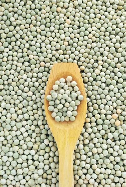 Stock fotó: Fakanál · aszalt · zöld · zöldborsó · textúra · egészség