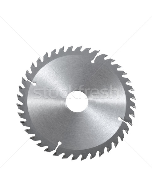 Circular saw blade for wood isolated on white Stock photo © brozova