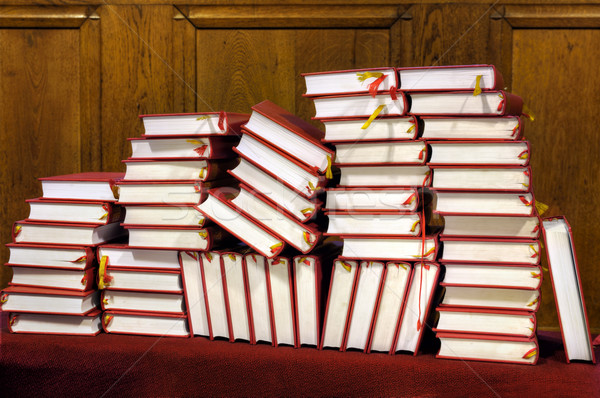 Hymnals and prayer books - stack Stock photo © brozova