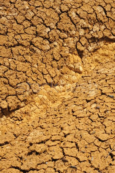 Stock foto: Geknackt · trocken · Boden · Textur · Hintergrund · orange