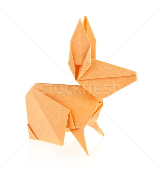 Make an Origami Rabbit -Perfect as an Easter Egg Holder | 600x549