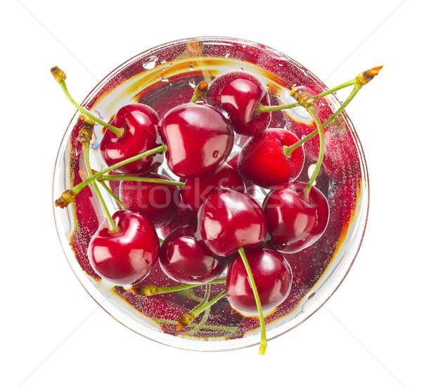 Efervescente soda beber cereja verão cerejas Foto stock © brulove