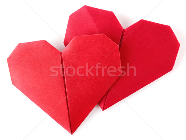 pair valentine origami Stock photo © brulove