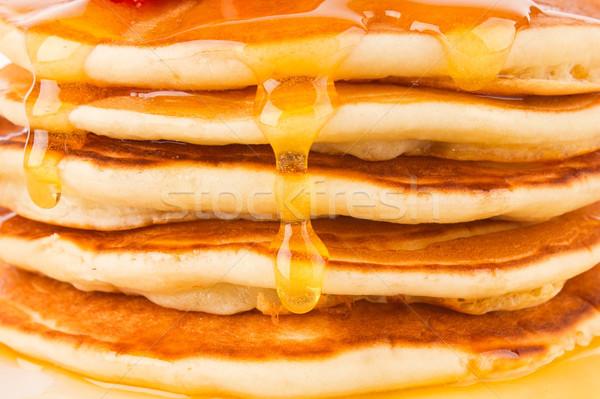 テクスチャ 新鮮な パンケーキ 香ばしい メイプル シロップ ストックフォト © brulove