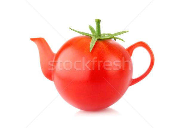 Creative conception juicy tomato kettle Stock photo © brulove